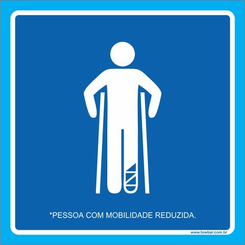 Placa pessoa com mobilidade reduzida  - Towbar Sinalização de Segurança