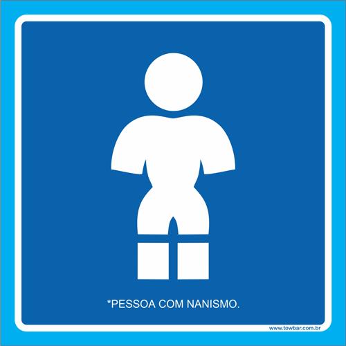 Placa pessoa com nanismo  - Towbar Sinalização de Segurança