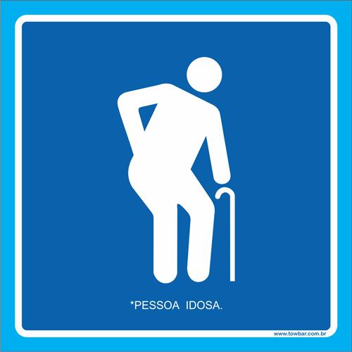 Placa pessoa idosa  - Towbar Sinalização de Segurança