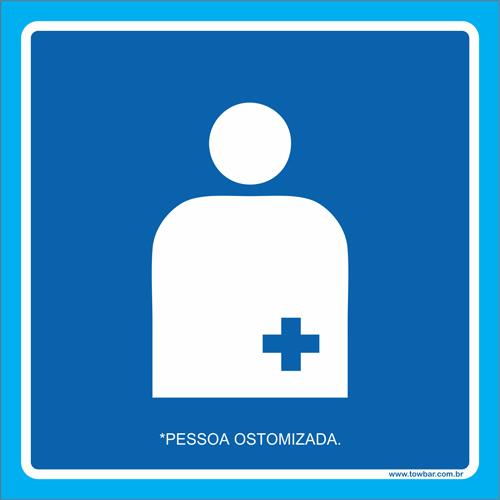 Placa pessoa ostomizada  - Towbar Sinalização de Segurança
