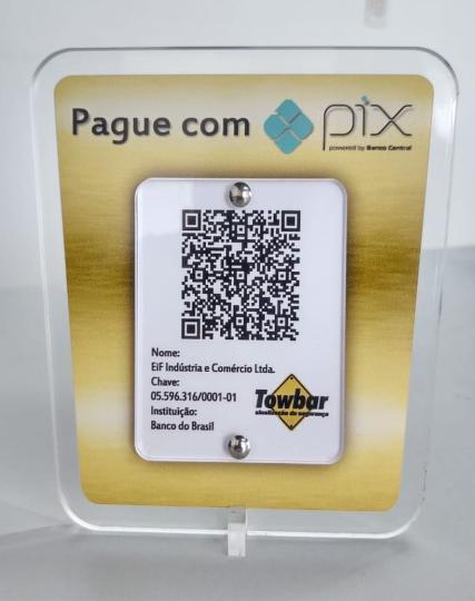 Placa Pix   - Towbar Sinalização de Segurança