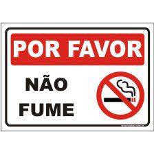 Por favor não fume  - Towbar Sinalização de Segurança