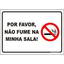 Por favor, não fume na minha sala  - Towbar Sinalização de Segurança