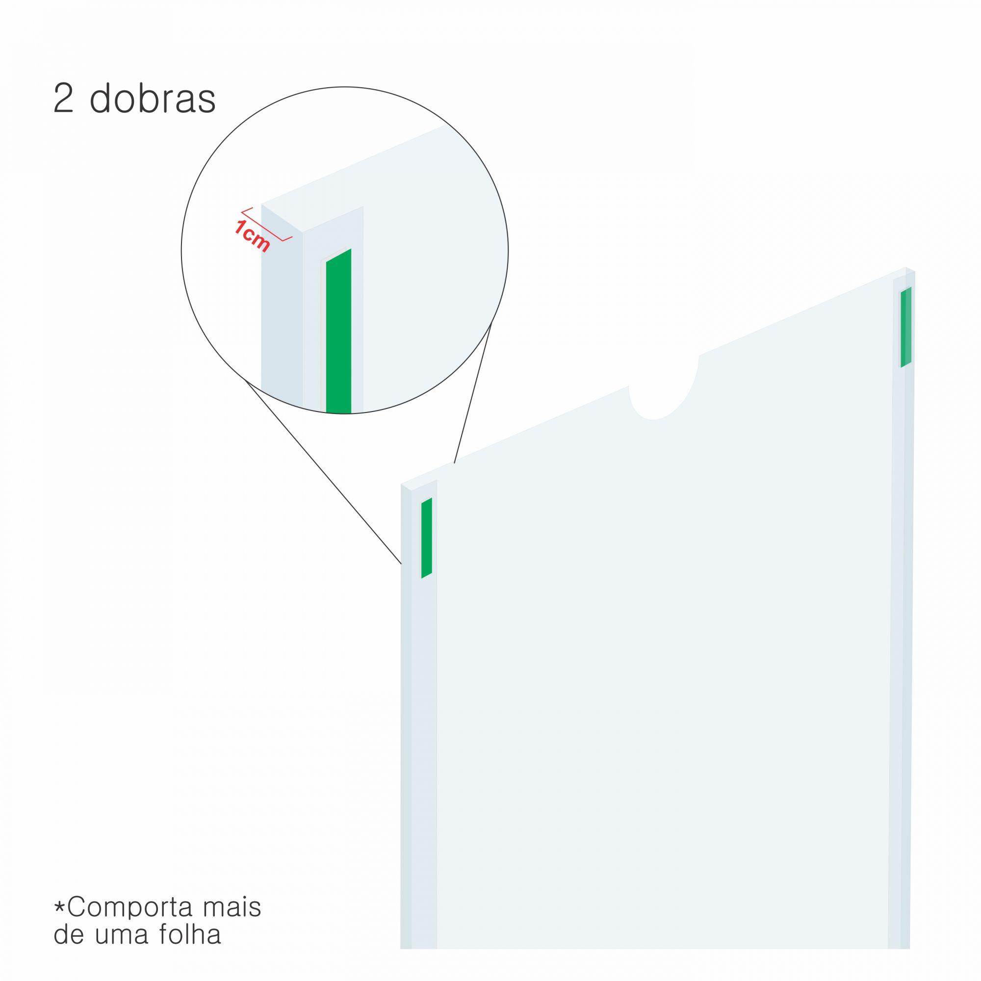 Porta folha em acetato 2 dobras  - Towbar Sinalização de Segurança