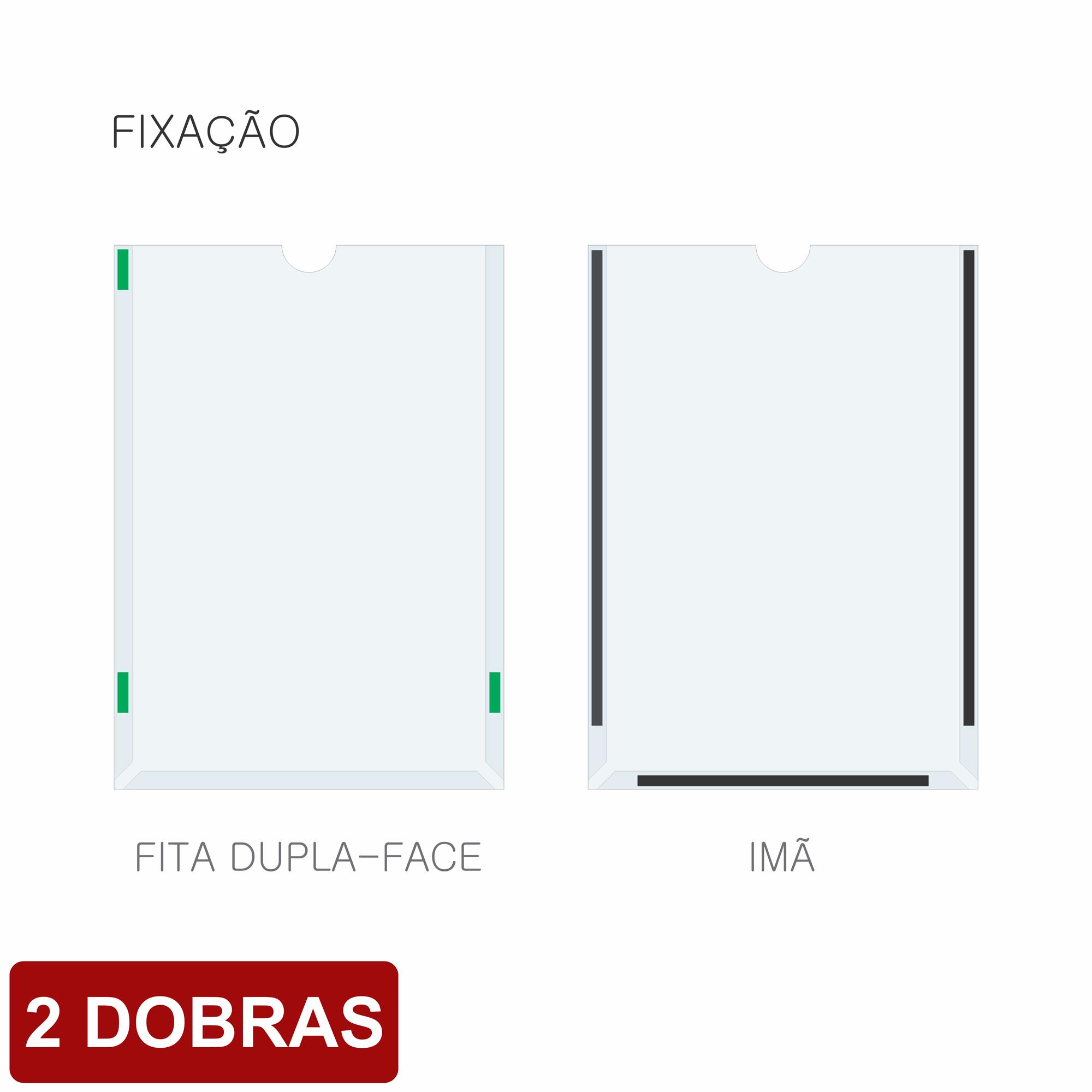 Porta folha A4 acetato com 2 dobras  - Towbar Sinalização de Segurança