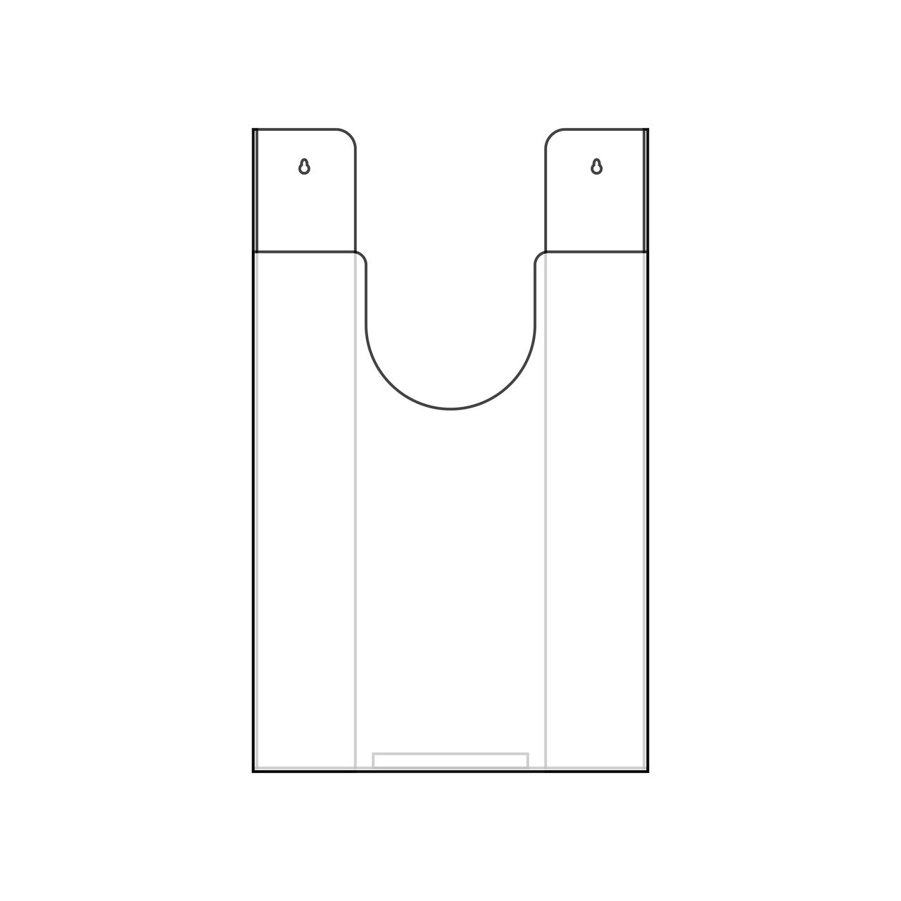 Porta folha em acrílico tipo bolsa  - Towbar Sinalização de Segurança