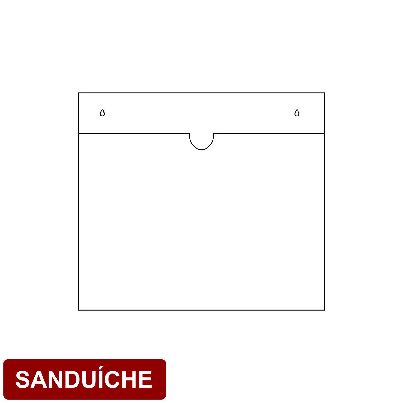 Porta folha em acrílico tipo sanduíche  - Towbar Sinalização de Segurança
