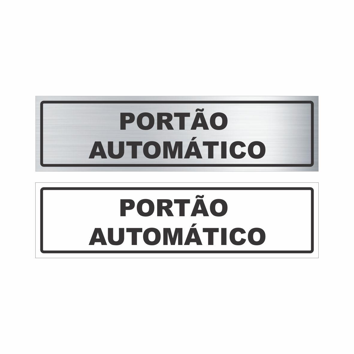 Portão automático  - Towbar Sinalização de Segurança