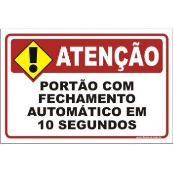 Portão Com Fechamento Automático Em 10 Segundos  - Towbar Sinalização de Segurança