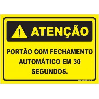 Portão Com Fechamento Automático Em 30 Segundos  - Towbar Sinalização de Segurança