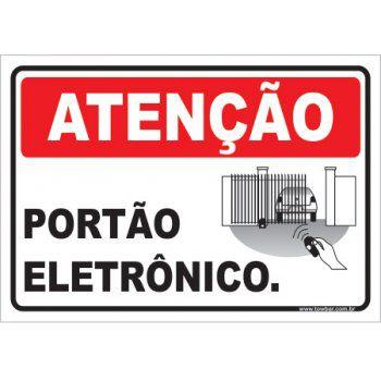 Portão Eletrônico  - Towbar Sinalização de Segurança