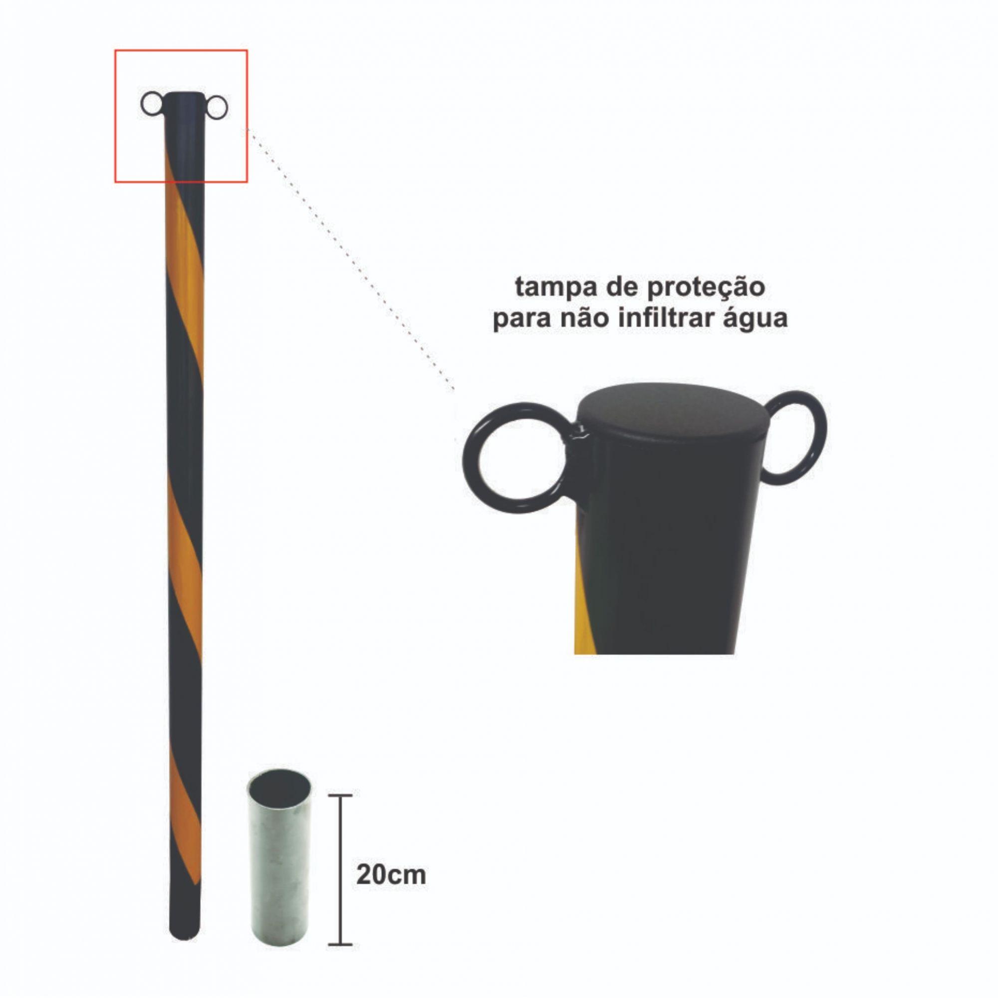 Poste demarcador de estacionamento móvel  - Towbar Sinalização de Segurança
