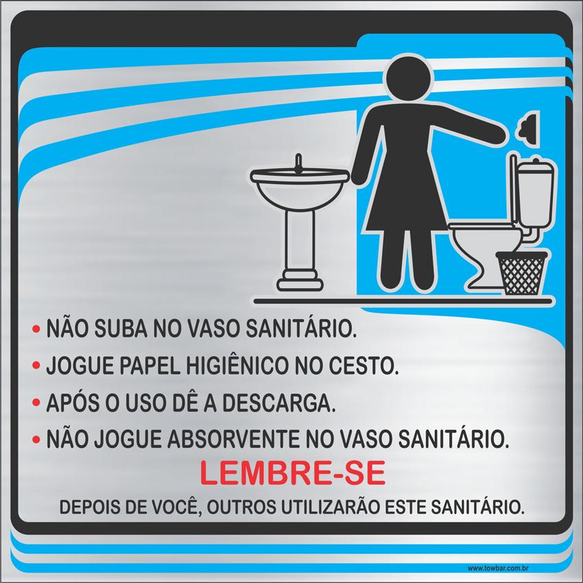 Procedimentos Sanitários Feminino (15x15cm)  - Towbar Sinalização de Segurança