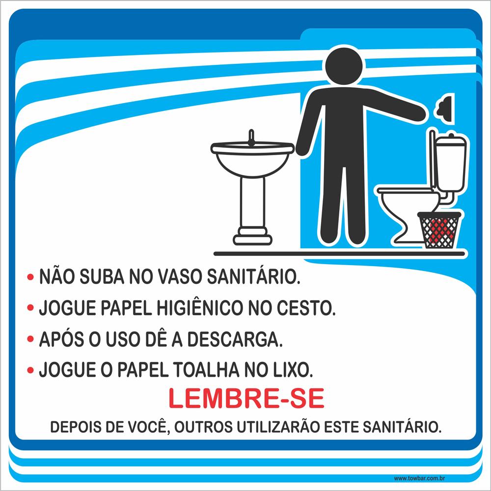 Procedimentos Sanitários Masculino (15x15cm)  - Towbar Sinalização de Segurança
