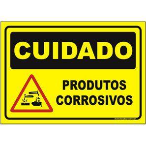 Produtos Corrosivos  - Towbar Sinalização de Segurança