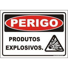 Produtos explosivos  - Towbar Sinalização de Segurança