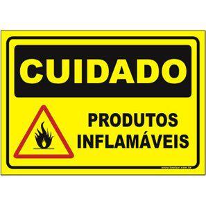 Produtos inflamáveis  - Towbar Sinalização de Segurança