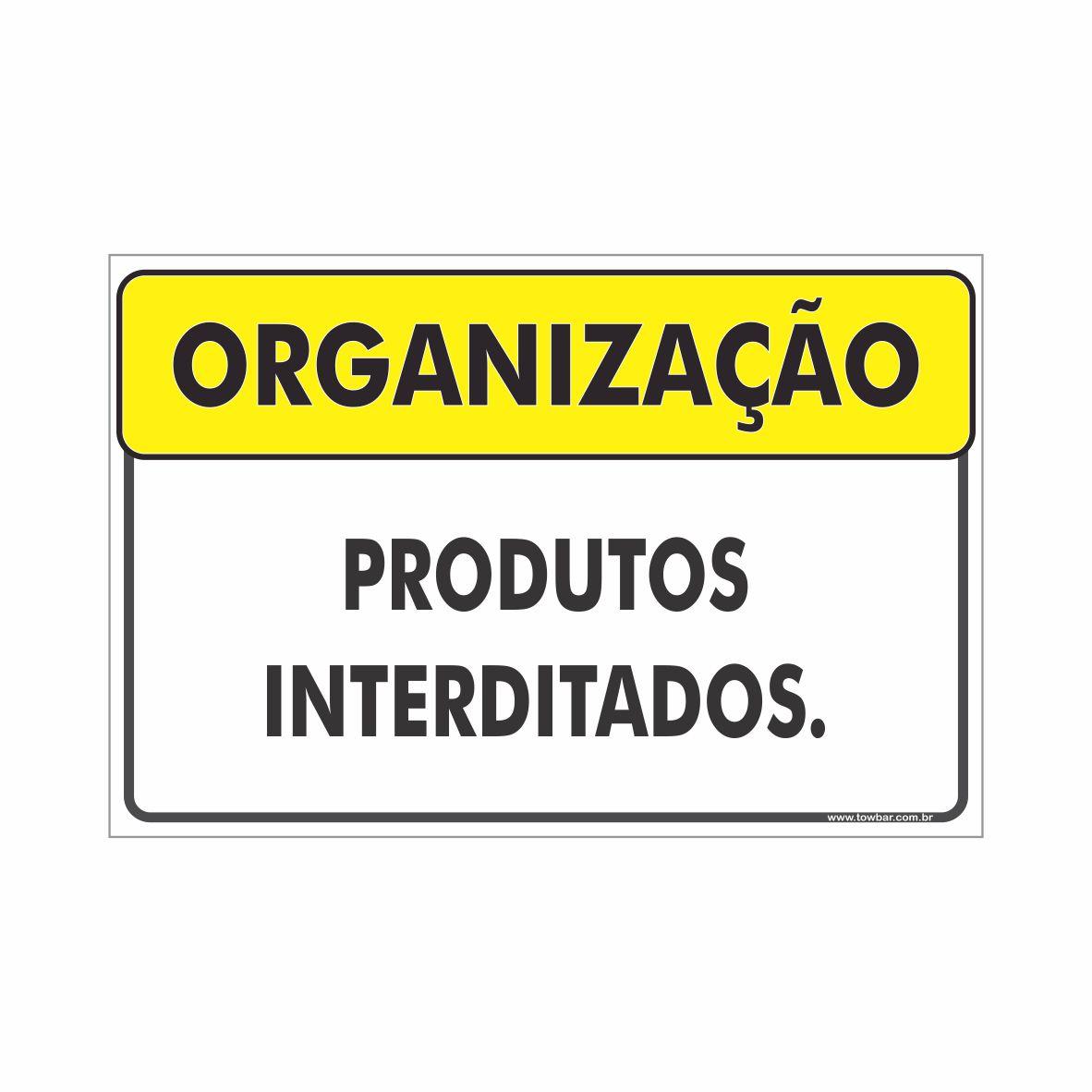 Produtos interditados  - Towbar Sinalização de Segurança