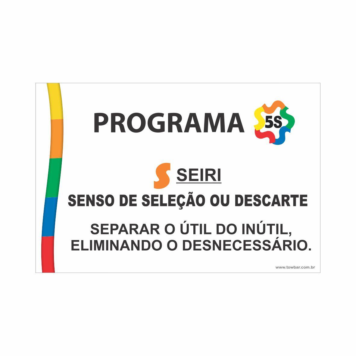 Programa 5S - Seiri  - Towbar Sinalização de Segurança
