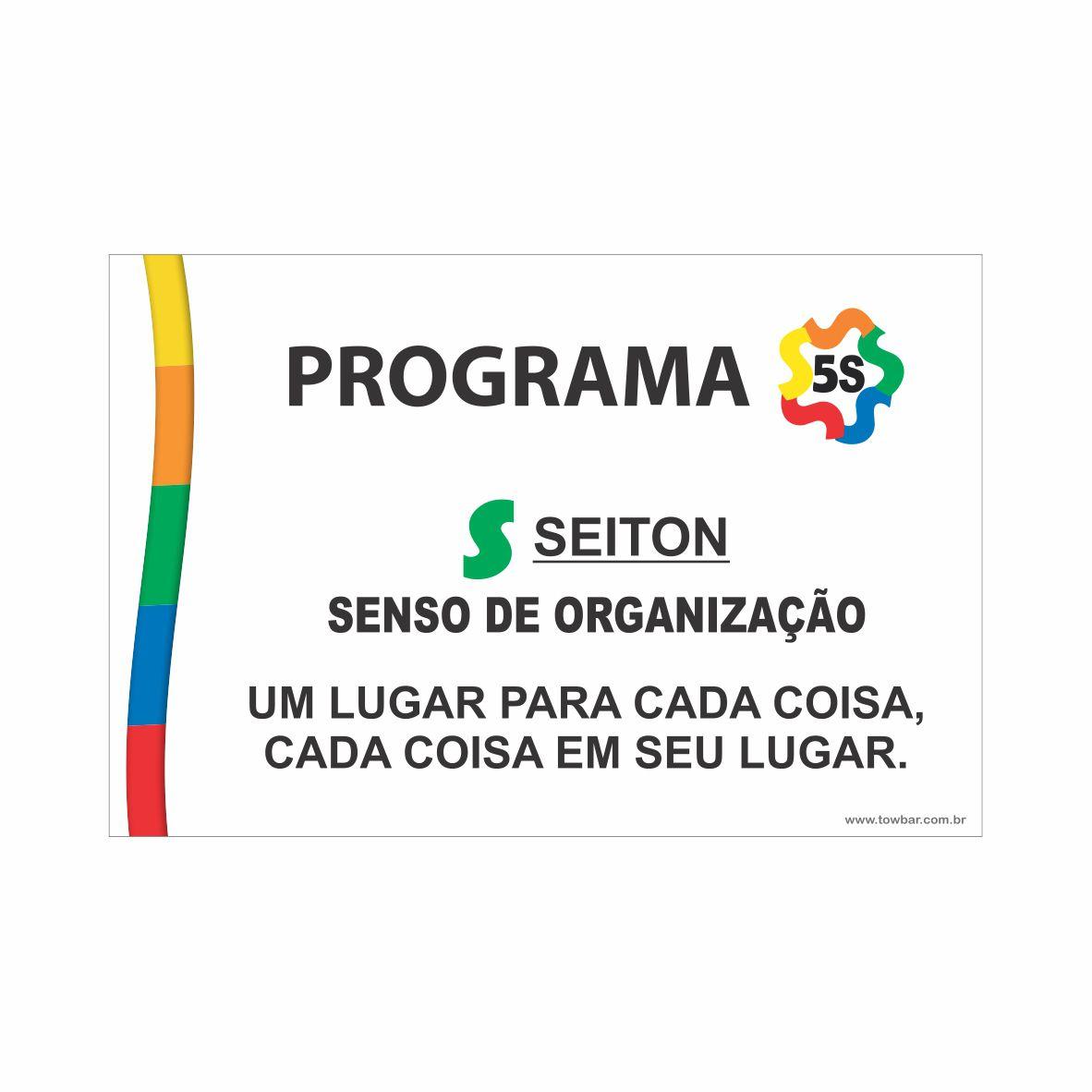 Programa 5S - Seiton  - Towbar Sinalização de Segurança