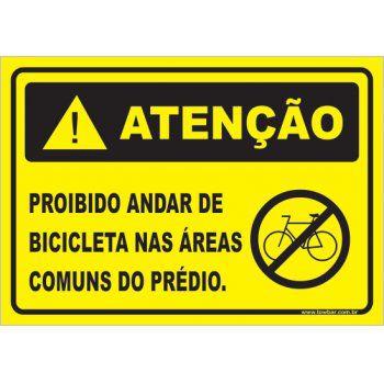 Proibido andar de bicicleta  - Towbar Sinalização de Segurança
