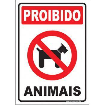 Proibido animais  - Towbar Sinalização de Segurança
