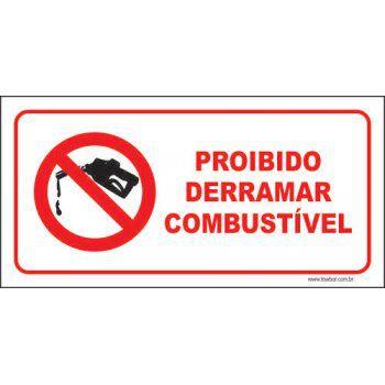 Proibido derramar combustível  - Towbar Sinalização de Segurança