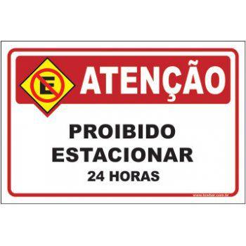 Proibido estacionar 24 horas  - Towbar Sinalização de Segurança