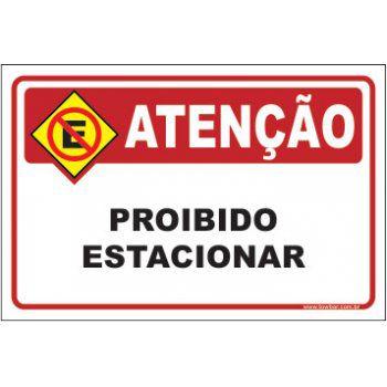 Proibido estacionar  - Towbar Sinalização de Segurança