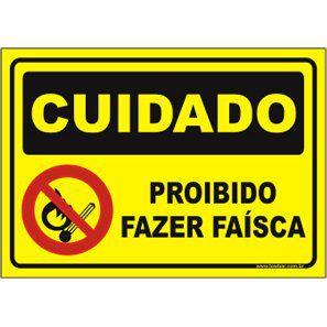 Proibido fazer faísca  - Towbar Sinalização de Segurança