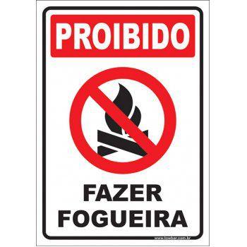 Proibido fazer fogueira  - Towbar Sinalização de Segurança