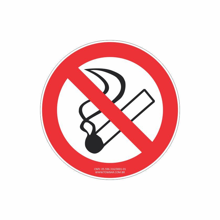 Proibido Fumar  - Towbar Sinalização de Segurança