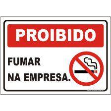 Proibido fumar na empresa  - Towbar Sinalização de Segurança