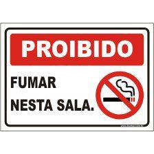 proibido fumar nesta sala  - Towbar Sinalização de Segurança