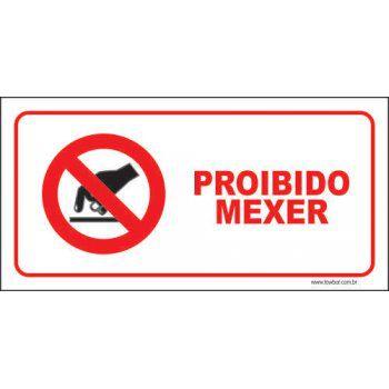 Proibido mexer  - Towbar Sinalização de Segurança