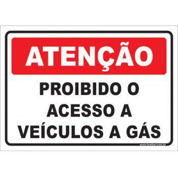Proibido o Acesso a Veículos a Gás  - Towbar Sinalização de Segurança