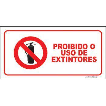 Proibido o uso de extintores  - Towbar Sinalização de Segurança