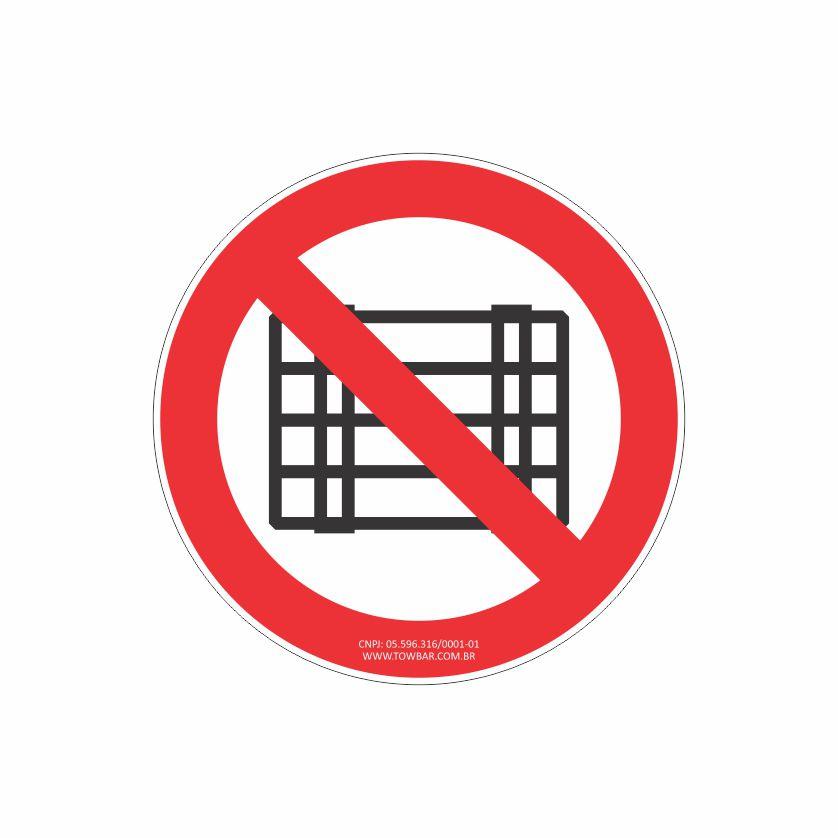 Proibido obstruir este local  - Towbar Sinalização de Segurança