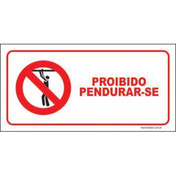 Proibido pendurar-se  - Towbar Sinalização de Segurança