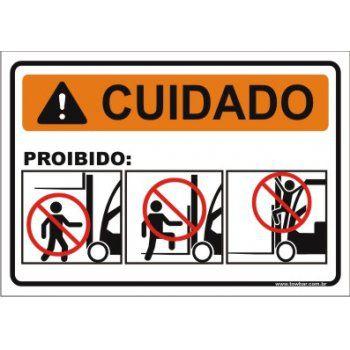 Proibido subir empilhadeira  - Towbar Sinalização de Segurança