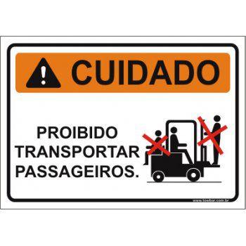 Proibido transportar passageiros  - Towbar Sinalização de Segurança