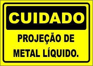 Projeção de Metal Líquido  - Towbar Sinalização de Segurança