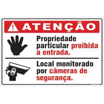 Propriedade Particular, Proibida a Entrada  - Towbar Sinalização de Segurança