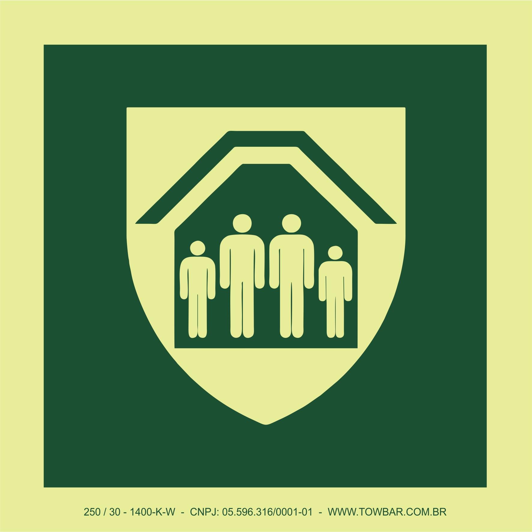 Abrigo de proteção (Protection Shelter)  - Towbar Sinalização de Segurança