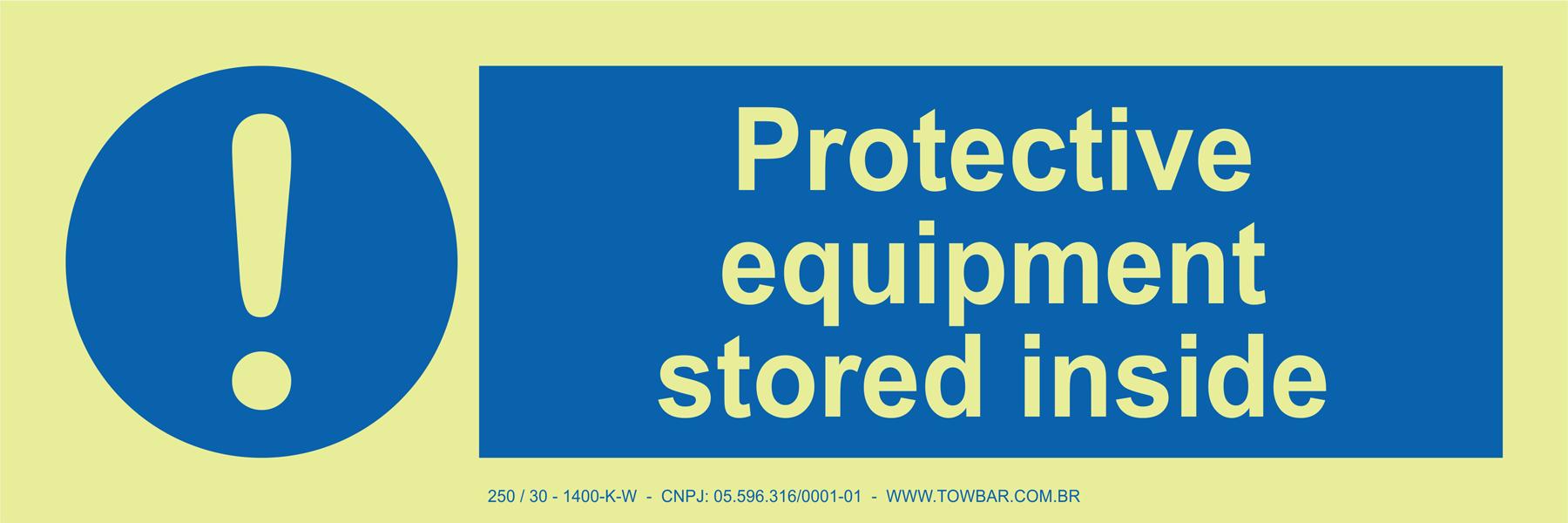 Protective Equipment Stored Inside  - Towbar Sinalização de Segurança