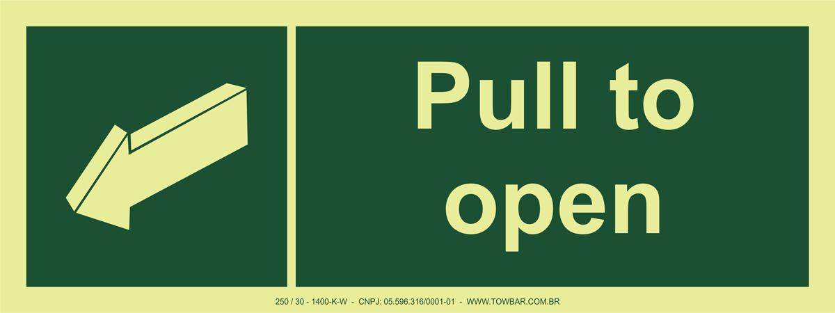 Push To Open Left  - Towbar Sinalização de Segurança