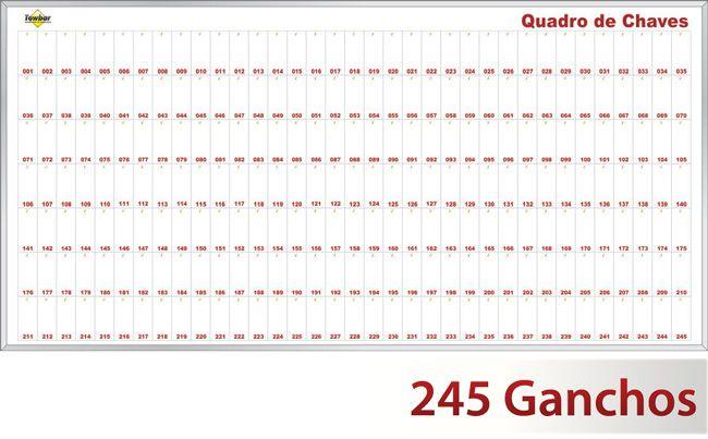Quadro claviculário para 245 chaves  - Towbar Sinalização de Segurança