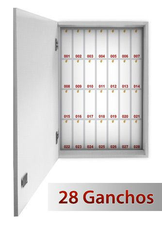 Quadro claviculário para 28 chaves  - Towbar Sinalização de Segurança