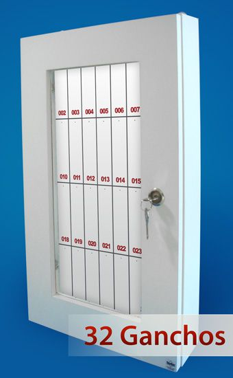 Quadro claviculário para 32 chaves  - Towbar Sinalização de Segurança