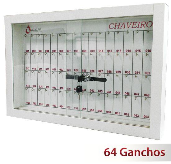 Quadro claviculário para 64 chaves  - Towbar Sinalização de Segurança